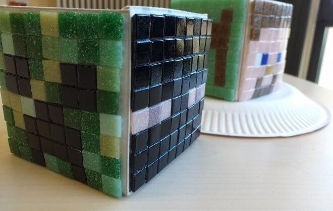 Minecraft Cupcake Würfel