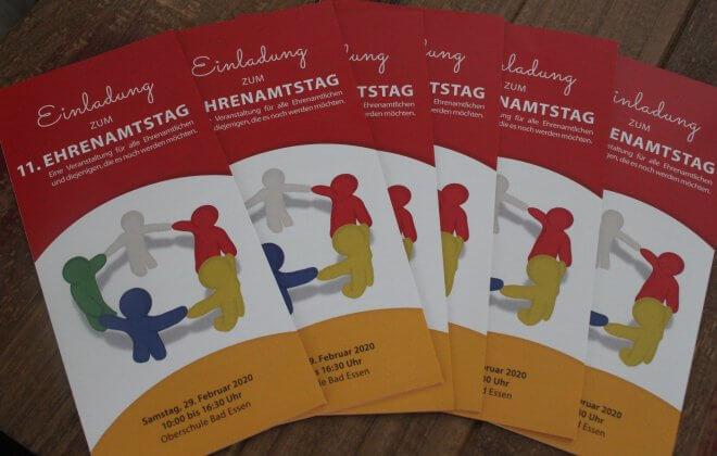 Flyer der Einladung zum 11. Ehrenamtstag