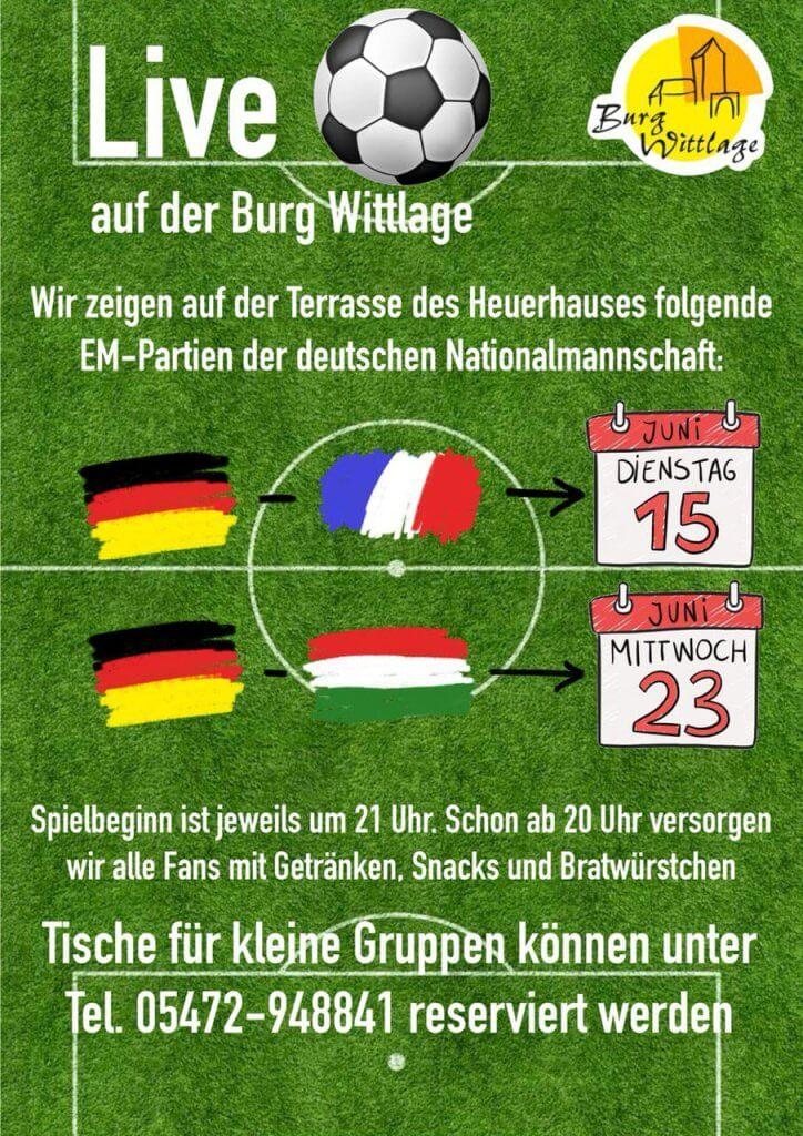 Fußball EM - Live auf der Burg Wittlage
